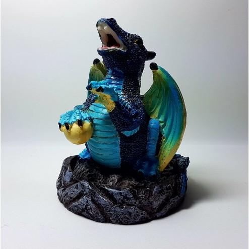 Incensário Formato Dragão Azul