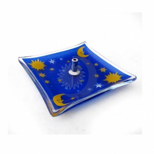 Incensário Celestial Azul 7cm