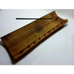 Incensário de Bambu Pirografado