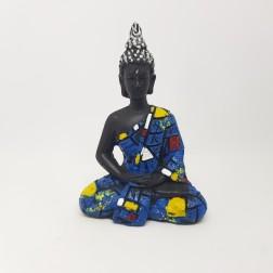 Estátua Buda Tibetano ( Azul )