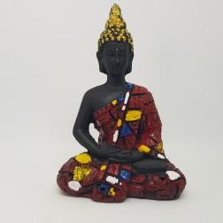 Estátua Buda Tibetano ( Vermelho )