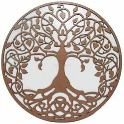 Mandala Árvore da Vida em MDF 35 cm