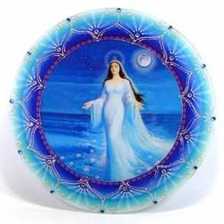Mandala Redonda de Parede Iemanjá 30cm
