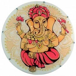 Mandala Redonda de Parede Ganesha 30 cm