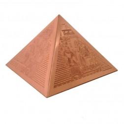 Pirâmide de Cobre Trabalhada 12 CM