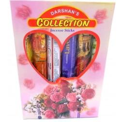 Coleção Incensos Darshan 6 Aromas (120 Varetas)
