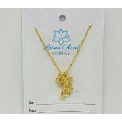 Gargantilha Iansã 2,2cm - Banho Ouro